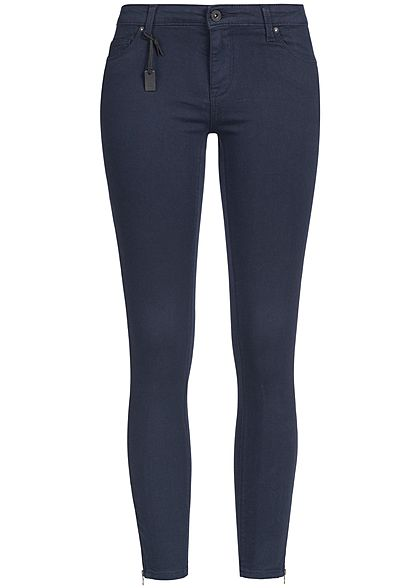 ONLY Damen Skinny Jeans Hose 5-Pockets Knöchellang Zipper NOOS night sky blau