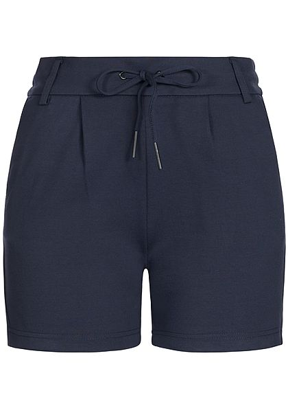 ONLY Damen Poptrash Shorts 4-Pockets Gummibund mit Kordelzug NOOS night sky blau