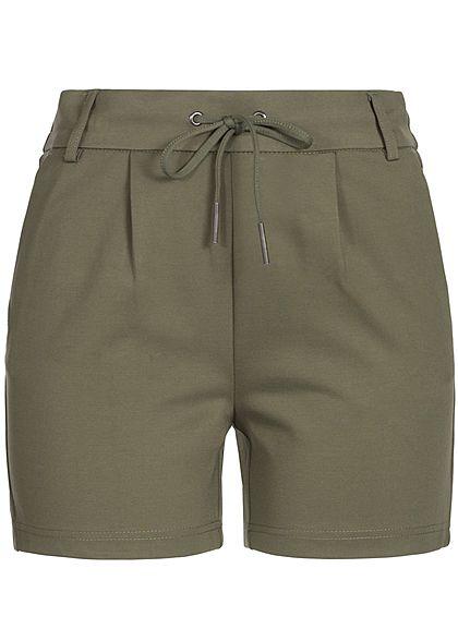 c3f4e24e ONLY Damen Poptrash Shorts 4-Pockets Gummibund mit Kordelzug NOOS kalamta  olive - 77onlineshop