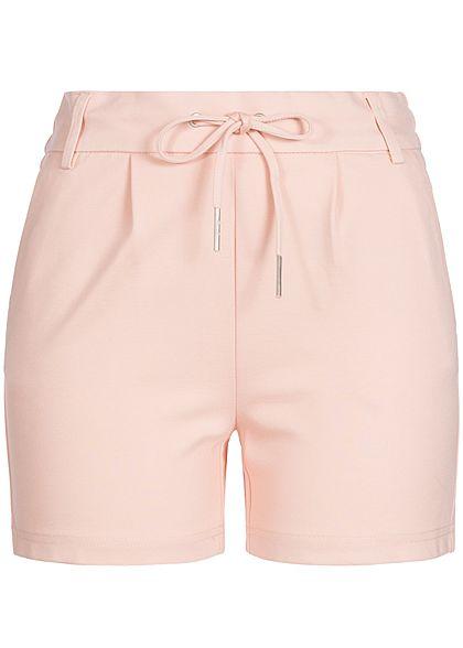 4a58e428 ONLY Damen Poptrash Shorts 4-Pockets Gummibund mit Kordelzug NOOS smoke  rosa - 77onlineshop