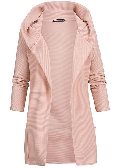 hot sale online 9b46c baf43 Styleboom Fashion Damen Long Hooded Cardigan rosa