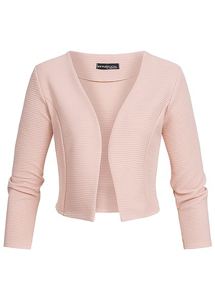Styleboom Fashion Damen Short Bolero rosa