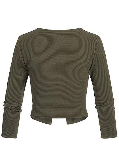 Styleboom Fashion Damen Short Bolero verde military grün
