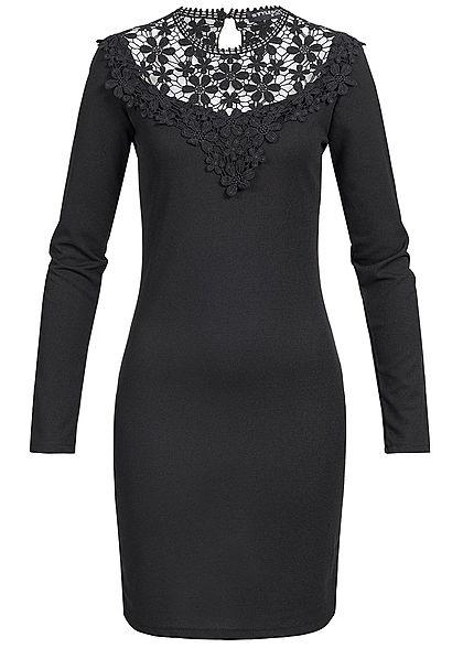 designer fashion 52440 22cd2 Styleboom Fashion Damen Mini Kleid Langarm Spitze schwarz