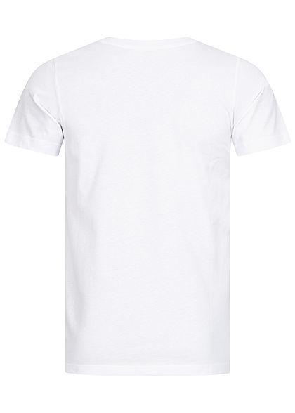 Urban Classics Herren T-Shirt mit Camo Brusttasche weiß