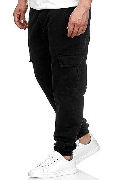 Seventyseven Lifestyle Herren Cargo Hose 6-Pockets schwarz
