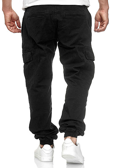Urban Classics Herren Cargo Joggpants Stoffhose 6-Pockets schwarz