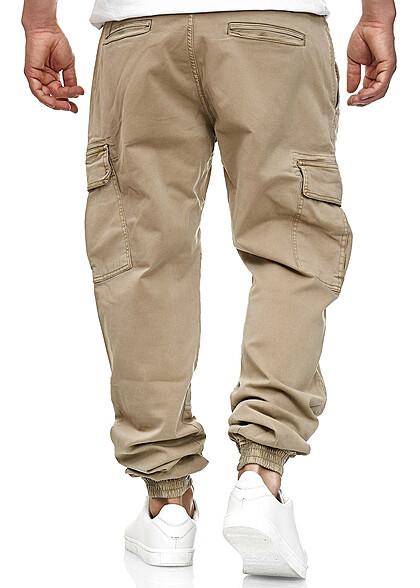 Urban Classics Herren Cargo Joggpants Stoffhose 6-Pockets sand beige