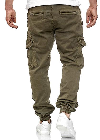 Urban Classics Herren Cargo Joggpants Stoffhose 6-Pockets olive grün denim