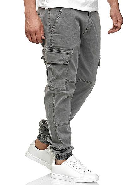 Urban Classics Herren Cargo Joggpants Stoffhose 6-Pockets grau denim