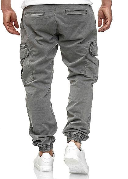 Seventyseven Lifestyle Herren Cargo Hose 6-Pockets grau