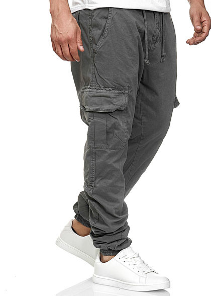 Urban Classics Herren Cargo Jogging Hose 6-Pockets dunkel grau