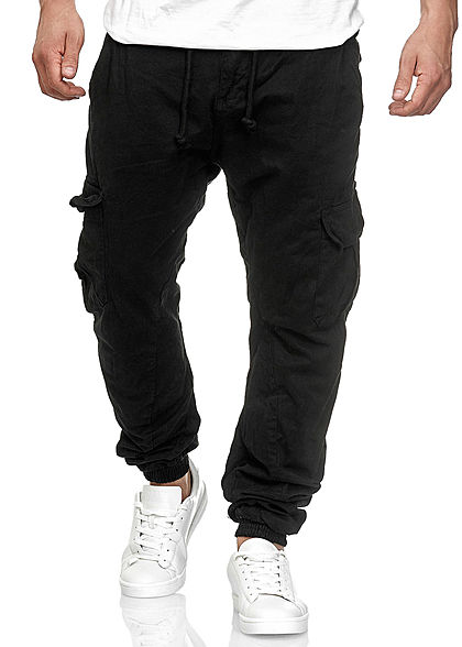 Seventyseven Lifestyle TB Herren Cargo Sweat Pants 6-Pockets schwarz