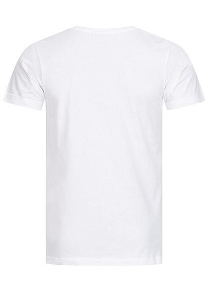 Urban Classics Herren T-Shirt mit Brusttasche im Aztec Design weiss