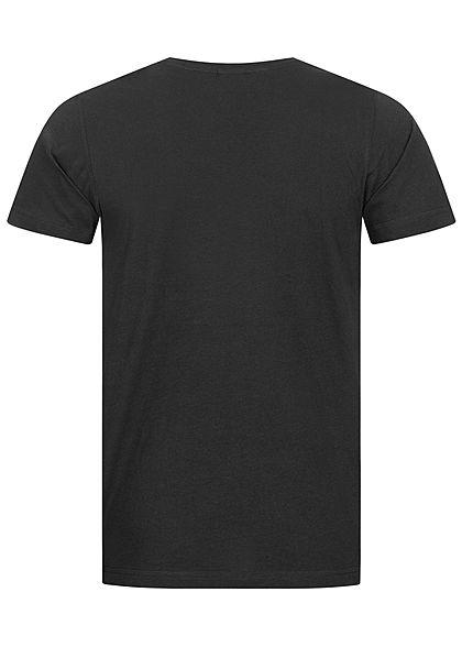 Urban Classics Herren T-Shirt mit Brusttasche im Aztec Design schwarz