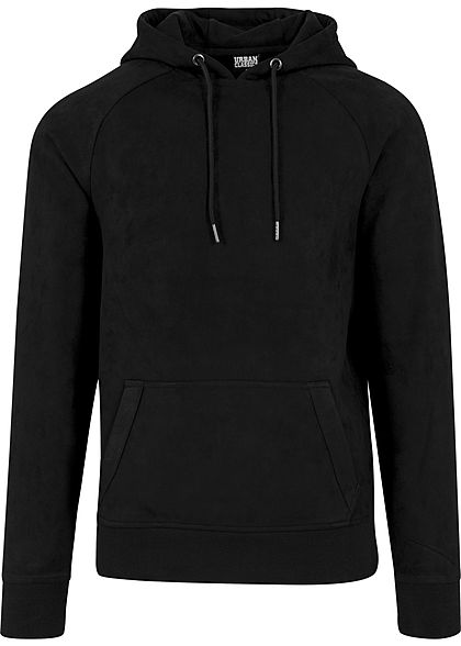 Seventyseven LifestyleTB Men Kapuzenpullover in Velours Optik schwarz