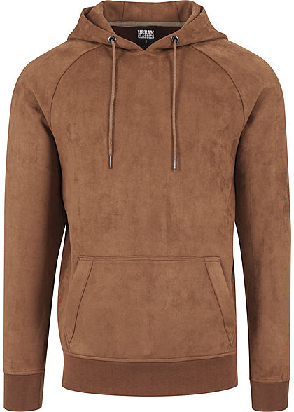 Seventyseven LifestyleTB Men Kapuzenpullover in Velours Optik beige