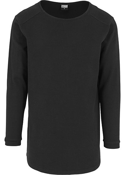 Seventyseven LifestyleTB Men Longsleeve Thermal Rundhals Waffel-Optik schwarz