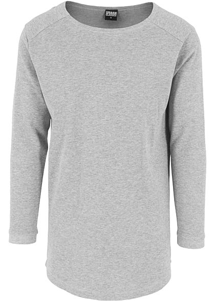 Seventyseven LifestyleTB Men Longsleeve Thermal Rundhals Waffel-Optik grau