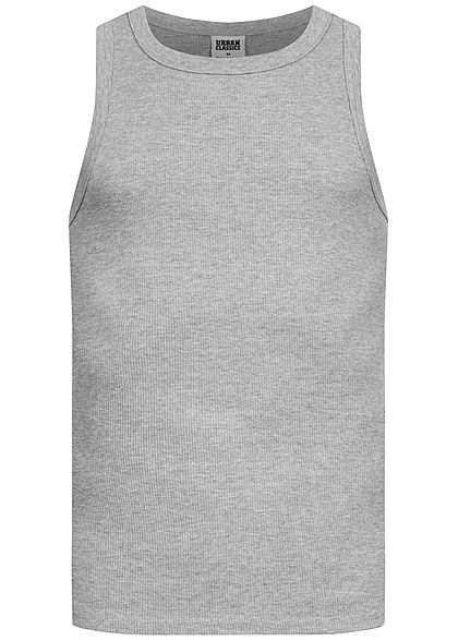 Seventyseven LifestyleTB Men Slim Fit Basic Tank Top aus Grobripp grau