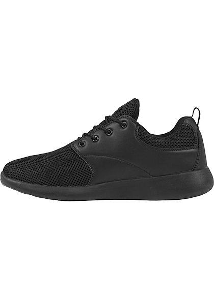 Seventyseven LifestyleTB leichte Running Sneakers Materialmix schwarz