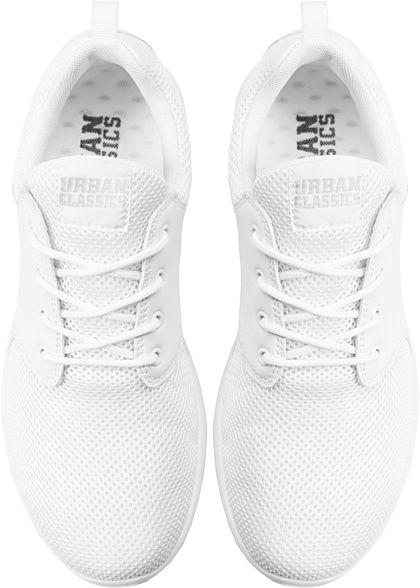 Seventyseven LifestyleTB leichte Running Sneakers Materialmix weiss