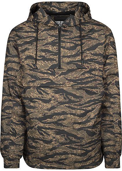 Seventyseven LifestyleTB Men Übergangsjacke in Tiger Optik Brusttasche vorne wood camo