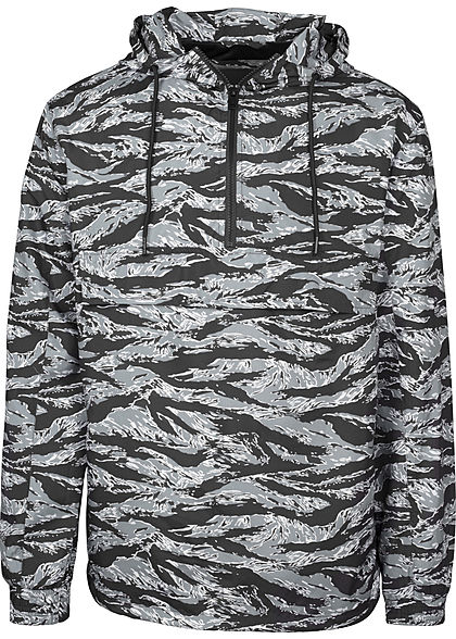 Seventyseven LifestyleTB Men Übergangsjacke in Tiger Optik Brusttasche vorne stone camo