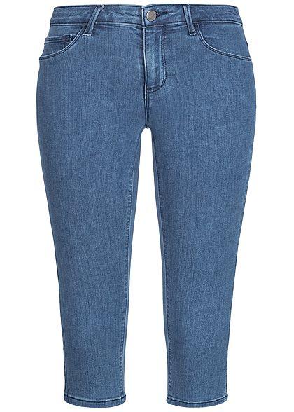 34e0afc37cd1cf ONLY Damen 3 4 Jeans Hose 5-Pockets Regular Waist NOOS medium blau denim