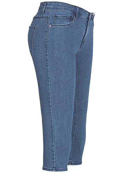 ONLY Damen Capri Jeans 5-Pockets Regular Waist NOOS medium blau denim