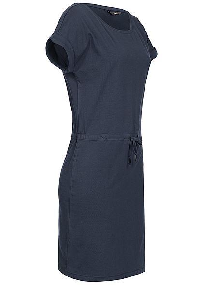 ONLY Damen Solid T-Shirt Dress NOOS night sky navy blau