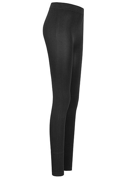 Urban Classics Damen Basic Slim Fit Leggings Gummibund schwarz