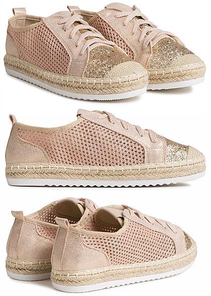 6d464b130ed4e6 Seventyseven Lifestyle Schuh Damen Sommer Sneaker Glitzer hell rosa -  77onlineshop