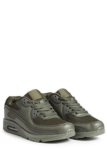 Seventyseven Lifestyle Schuh Damen Sneaker zum Schnüren millitary grün