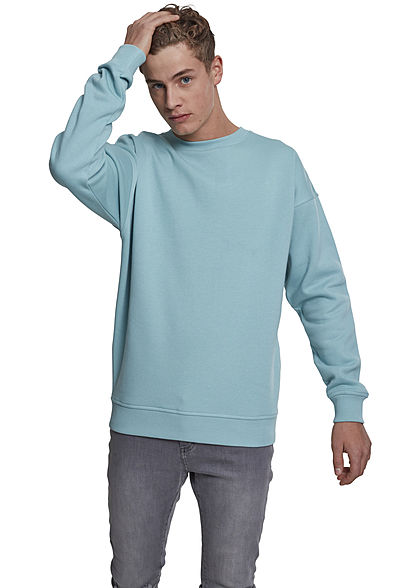 Seventyseven LifestyleTB Men Basic Sweater Rundhals bluemint
