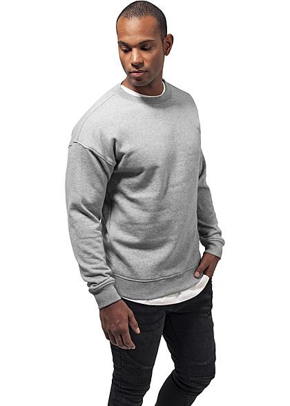 Seventyseven LifestyleTB Men Basic Sweater Rundhals grau