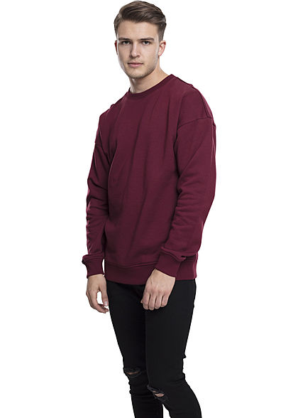 Seventyseven LifestyleTB Men Basic Sweater Rundhals port dunkelrot