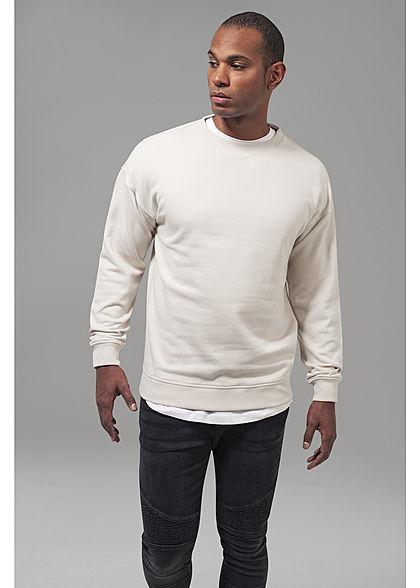 Seventyseven Lifestyle Men Basic Sweater Rundhals sand beige