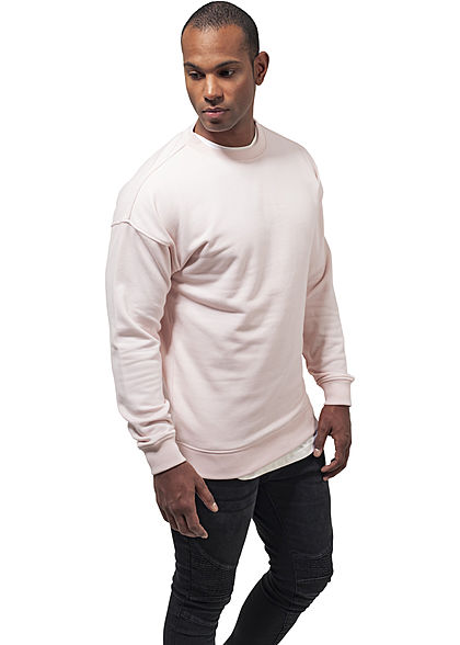 Seventyseven LifestyleTB Men Basic Sweater Rundhals pink