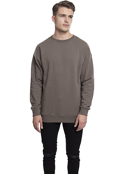Seventyseven Lifestyle Men Basic Sweater Rundhals army grün