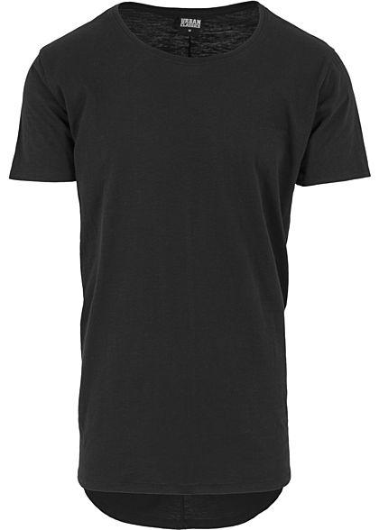 Seventyseven Lifestyle Men TB T-Shirt Rundhals hinten länger geschnitten  schwarz - 77onlineshop 08ebf783cf