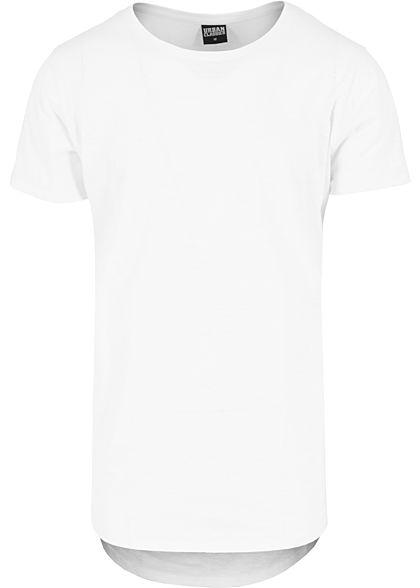 Seventyseven Lifestyle Men TB T-Shirt Rundhals hinten länger geschnitten  weiss - 77onlineshop 4ed552aeeb