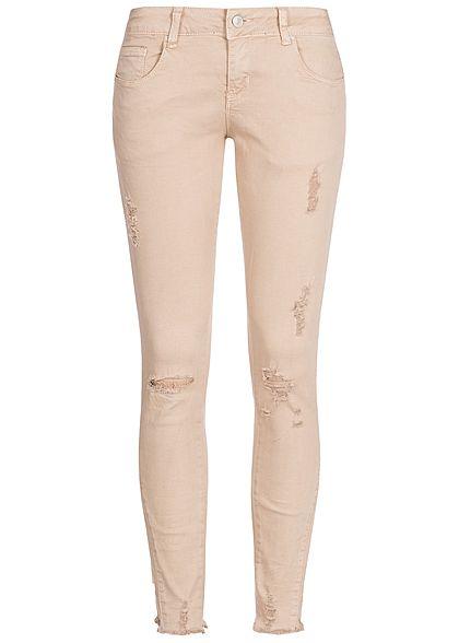 Seventyseven Lifestyle Damen Skinny Jeans Hose Destroy Look 5