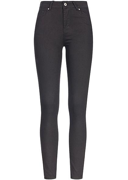8d48d041ce69de Seventyseven Lifestyle Damen Skinny Jeans Hose 5-Pockets High Waist schwarz  denim - 77onlineshop