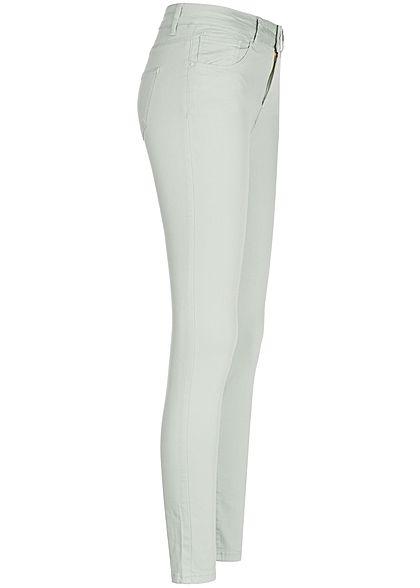 Seventyseven Lifestyle Damen Skinny Jeans Hose 5-Pockets High Waist khaki