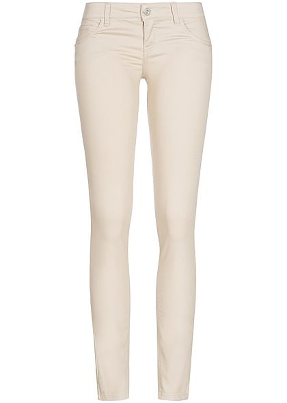 ONLY Damen Skinny Jeans NOOS Push-Up Effekt 5-Pocket Style peyote beige