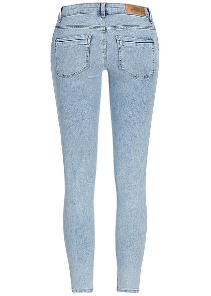 ONLY Damen Skinny Jeans Hose 5-Pockets Regular Waist NOOS hell blau denim
