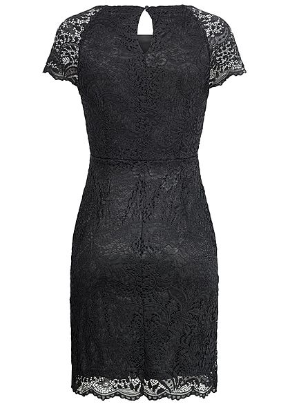 ONLY Damen 2-Layer Allover Lace Mini Dress NOOS schwarz