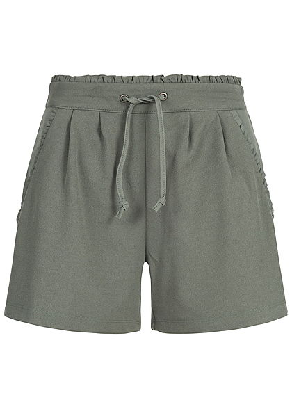 JDY by ONLY Damen Jersey Shorts 2-Pockets NOOS castor gray grün