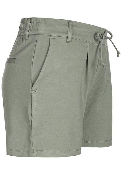 JDY by ONLY Damen Jersey Shorts 2-Pockets NOOS castor gray grün